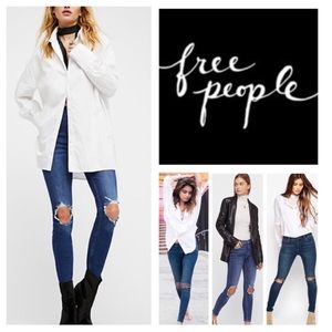 🆕Free People High Rise Busted Skinny Jeans. NWOT.